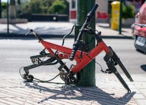 Demontiertes Fahrrad – der traurige Rest…